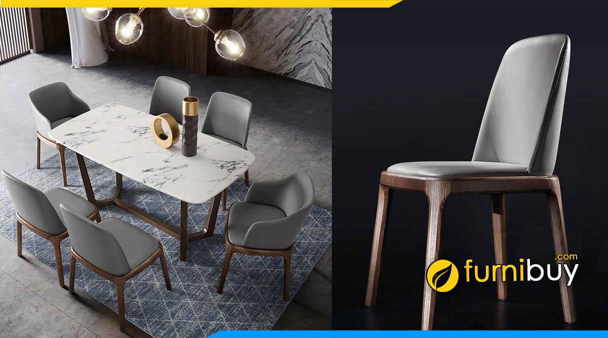 Hình ảnh mẫu ghế bàn ăn bọc da đẹp sang trọng