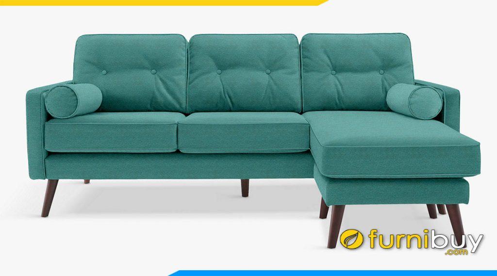 ghe sofa goc chu l boc ni mau xanh la