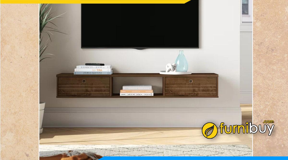 Tại sao kệ tivi treo tường bằng gỗ tự nhiên ít thịnh hành