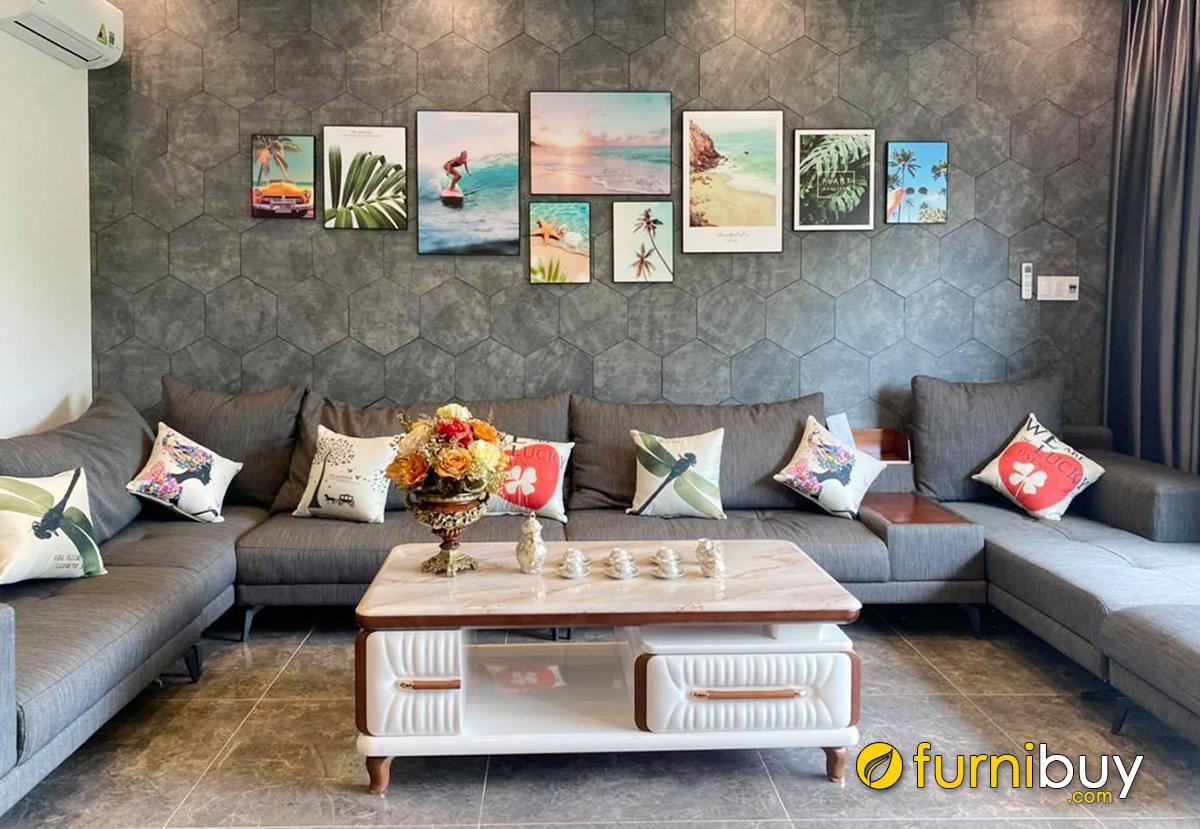 Hình ảnh Tranh phong cảnh biển treo tường villa đẹp