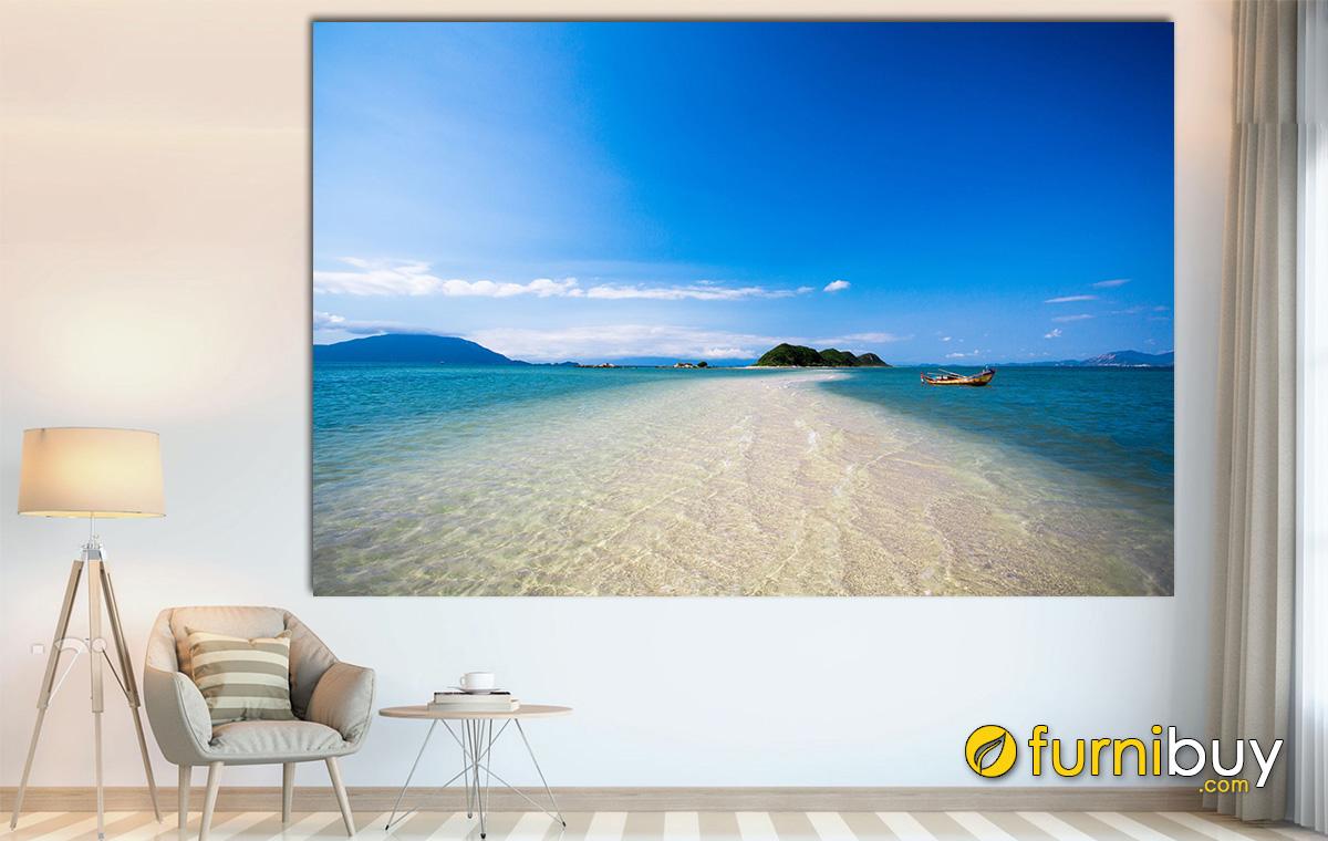 Hình ảnh Tranh biển Nha Trang treo tường đẹp