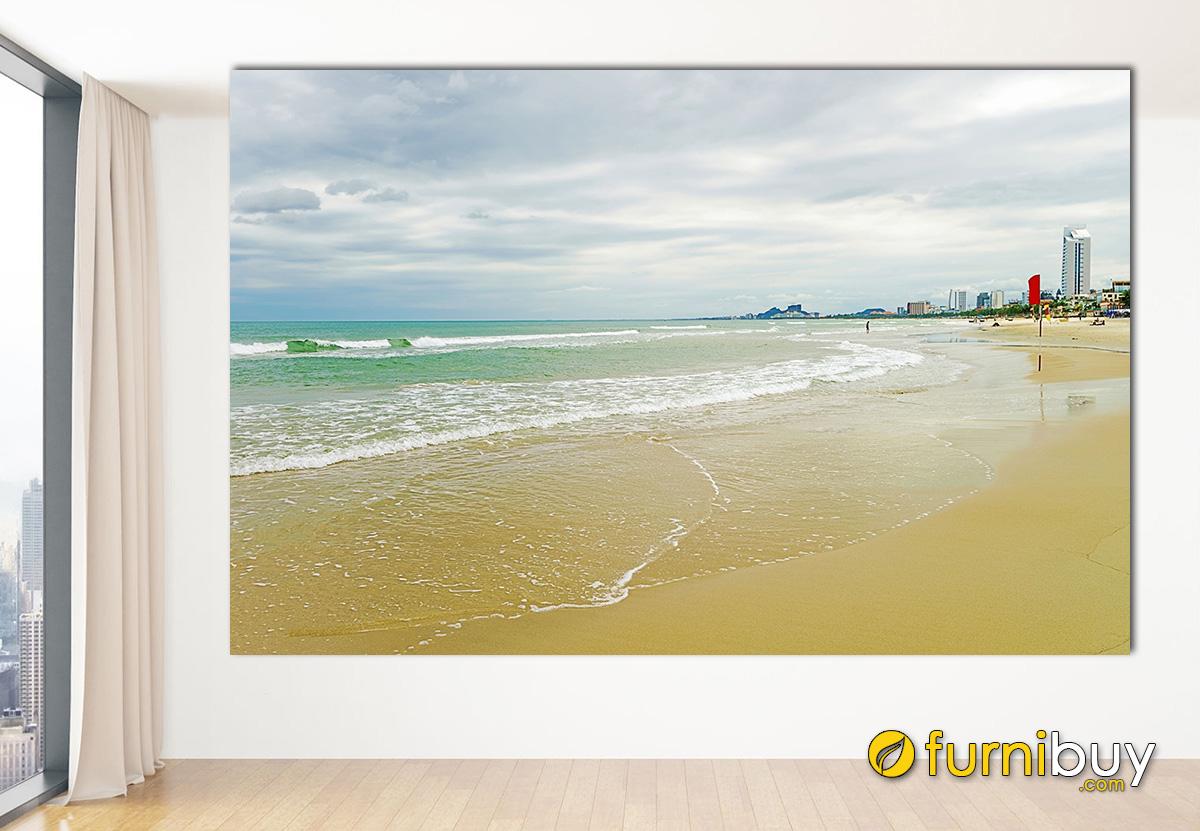 Hình ảnh Bức tranh bờ biển Đà Nẵng treo tường đẹp