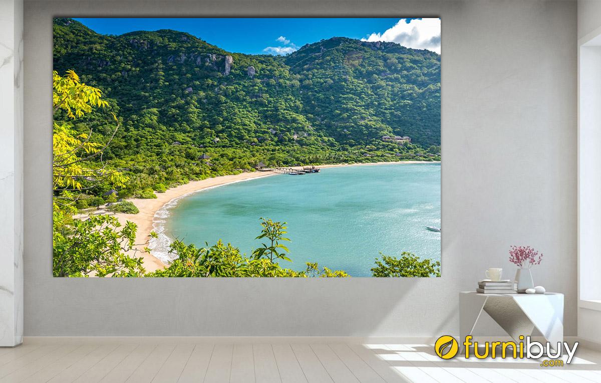 Hình ảnh Tranh bờ biển Nha Trang treo tường