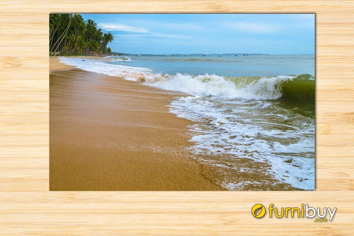 Hình ảnh Tranh bờ biển treo tường trang trí đẹp