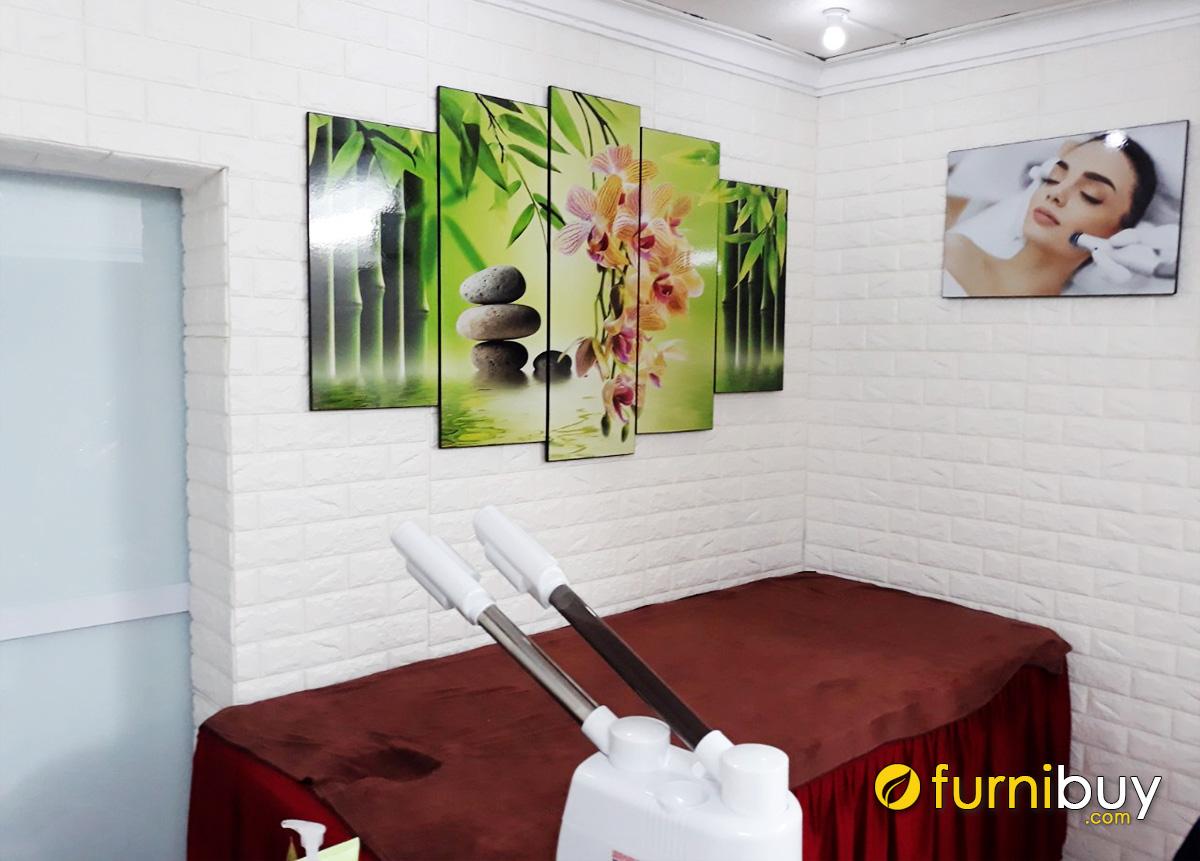 Hình ảnh Tranh hoa đá treo tường spa đẹp hiện đại