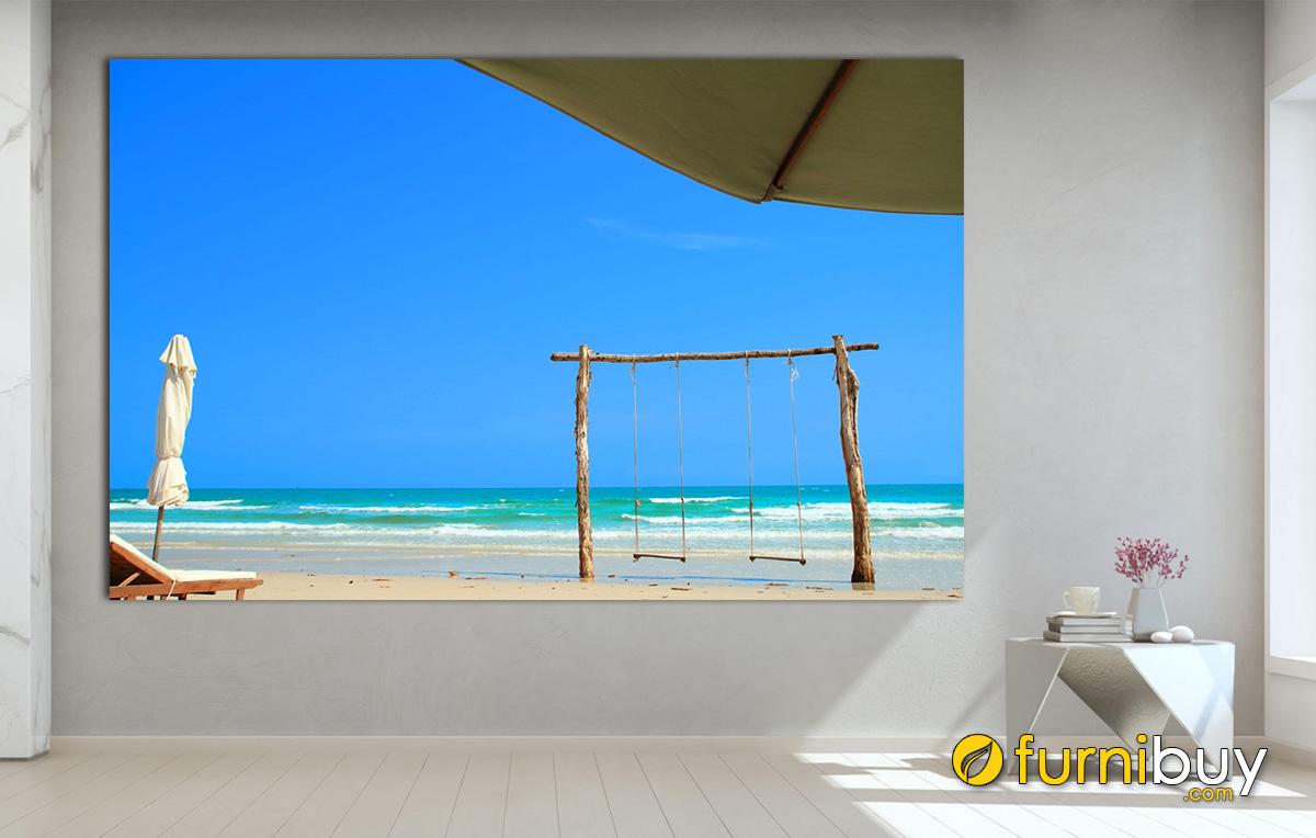 Hình ảnh Tranh cảnh biển Phú Quốc treo tường đẹp