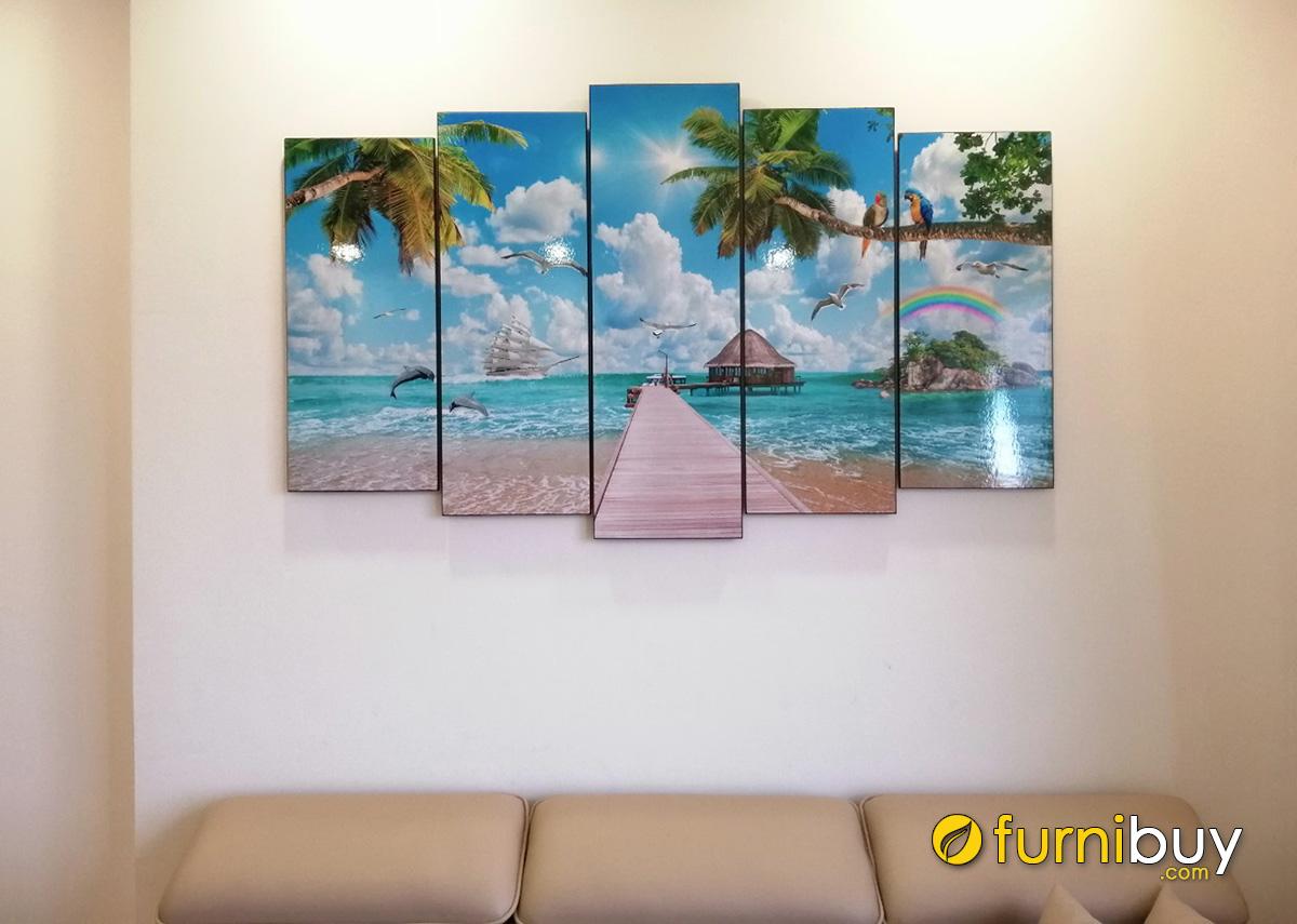 Hình ảnh Tranh cảnh biển trang trí tường phòng khách