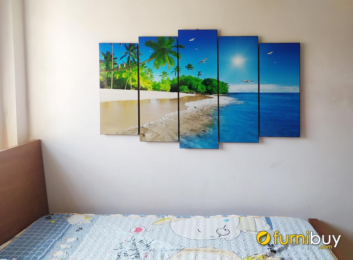 Hình ảnh Tranh cảnh biển treo tường phòng ngủ đẹp hiện đại