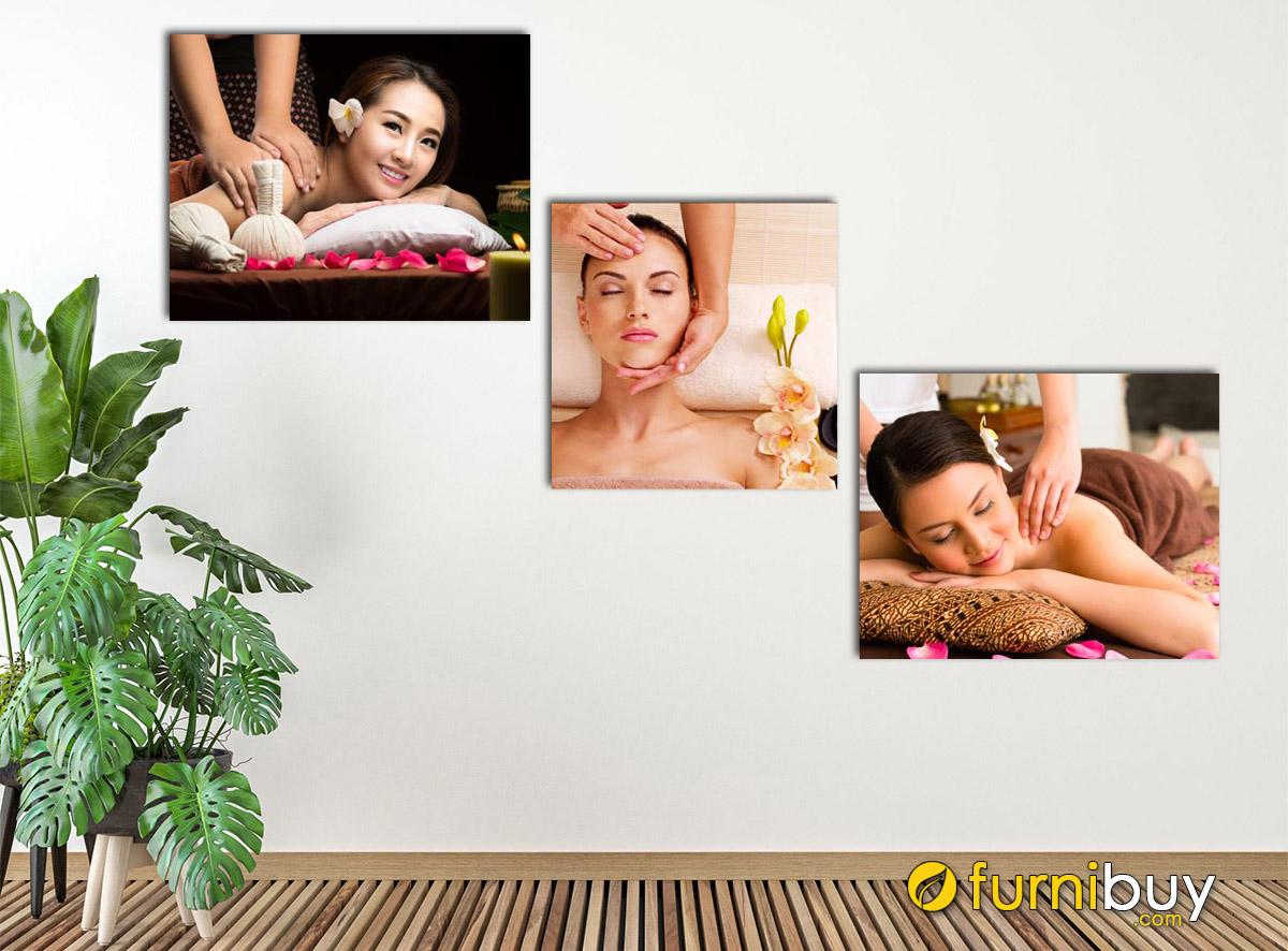 Hình ảnh Tranh cô gái đẹp treo tường spa hiện đại