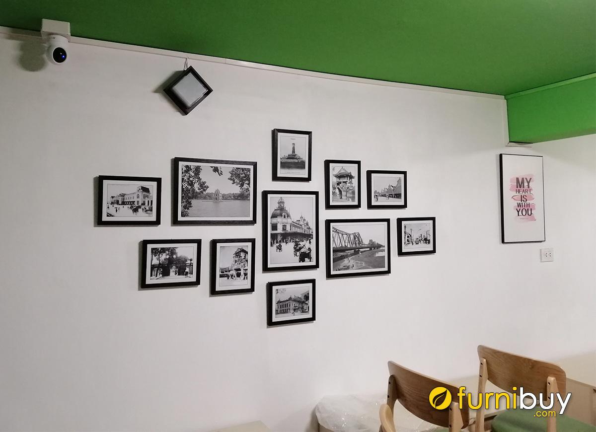 Hình ảnh Tranh đen trắng trang trí tường nhà hàng đẹp sang trọng
