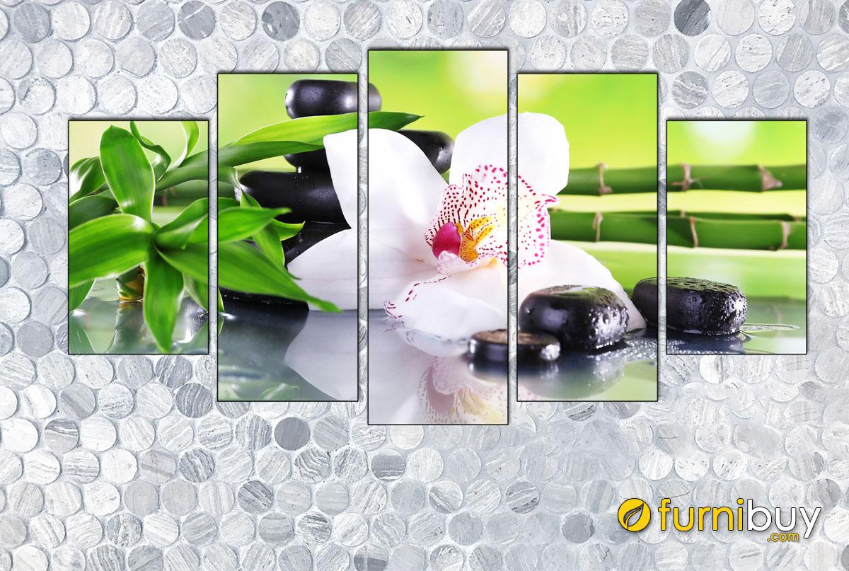 Hình ảnh Tranh hoa lan treo tường spa đẹp nhẹ nhàng