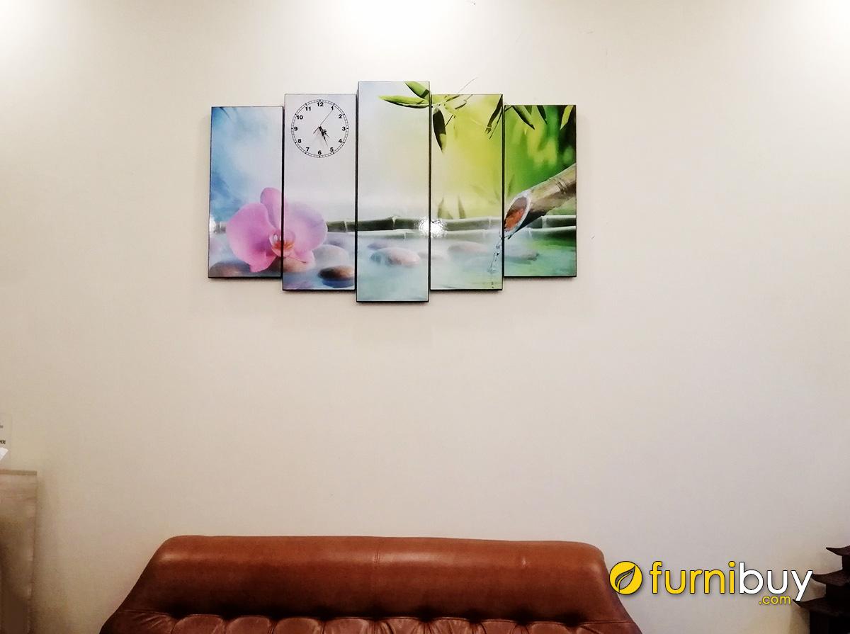 Hình ảnh Tranh hoa lan và đá treo tường spa