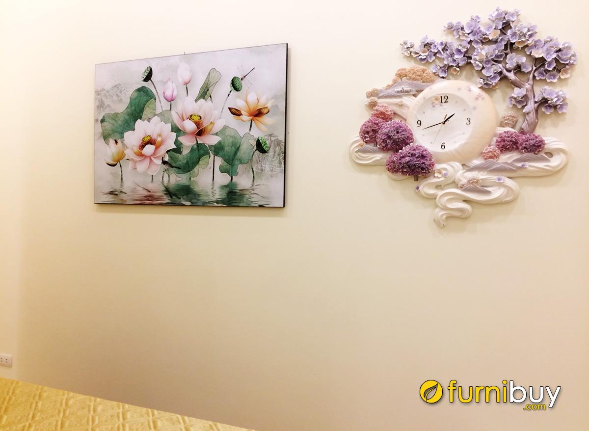 Hình ảnh Tranh hoa sen treo tường spa đẹp