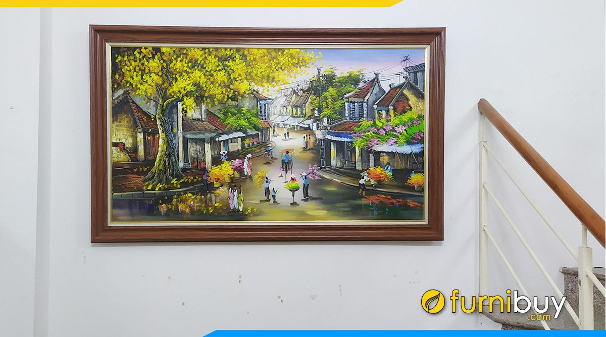 Hình ảnh Top 50+ Tranh Phố Cổ Hà Nội Treo Tường Đẹp Hút Triệu Lượt View!!!
