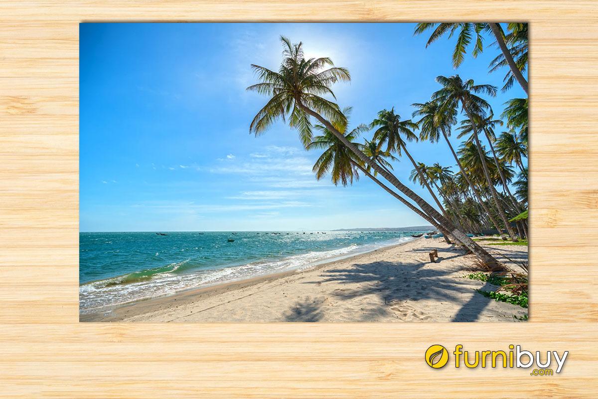 Hình ảnh Tranh phong cảnh bãi biển treo tường đẹp