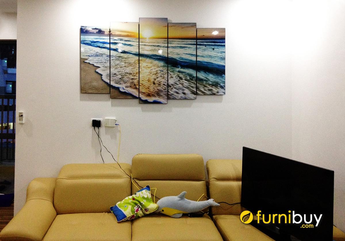 Hình ảnh Tranh phong cảnh biển treo tường phòng khách