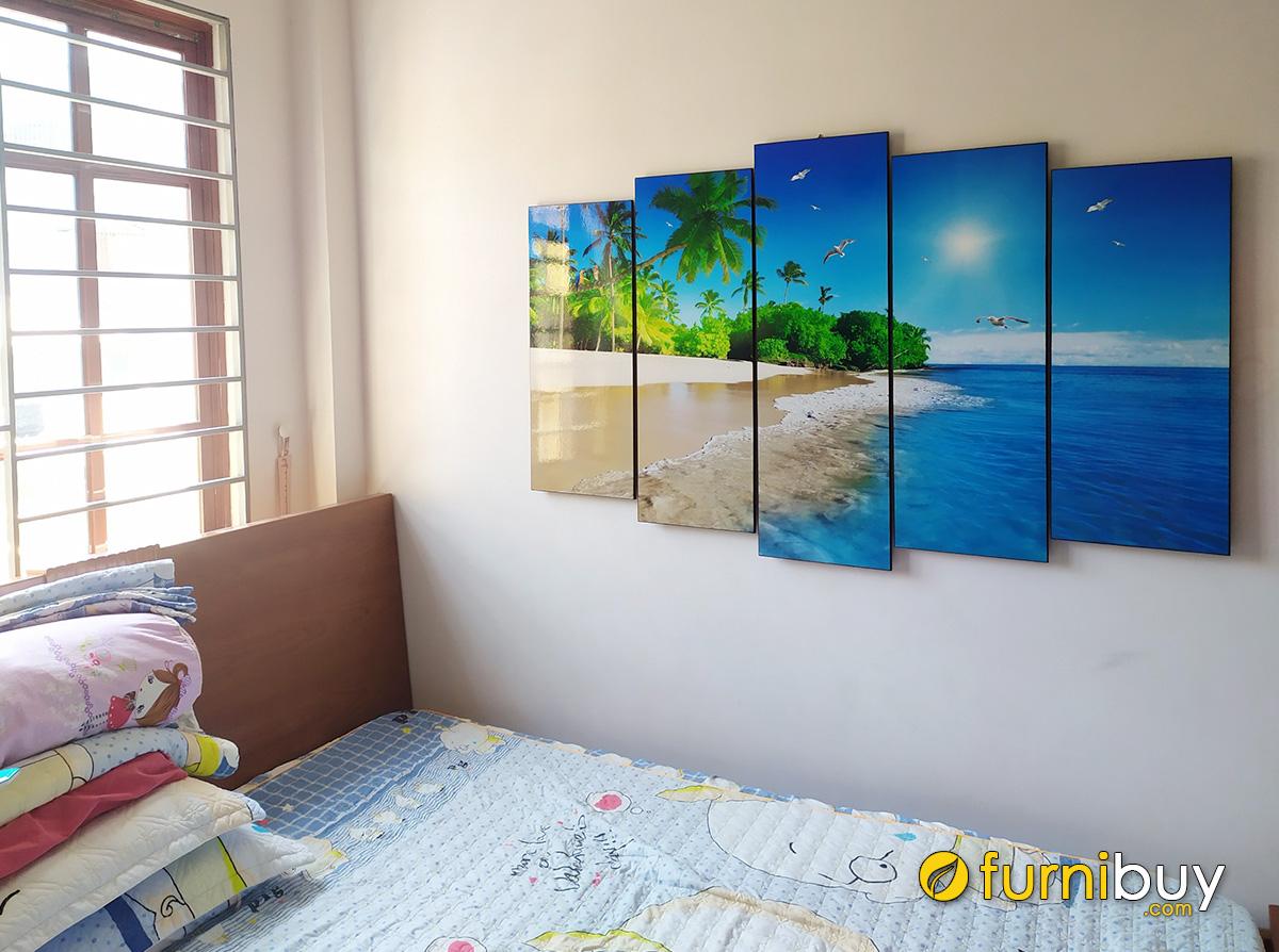 Hình ảnh Tranh phong cảnh biển treo tường phòng ngủ đẹp