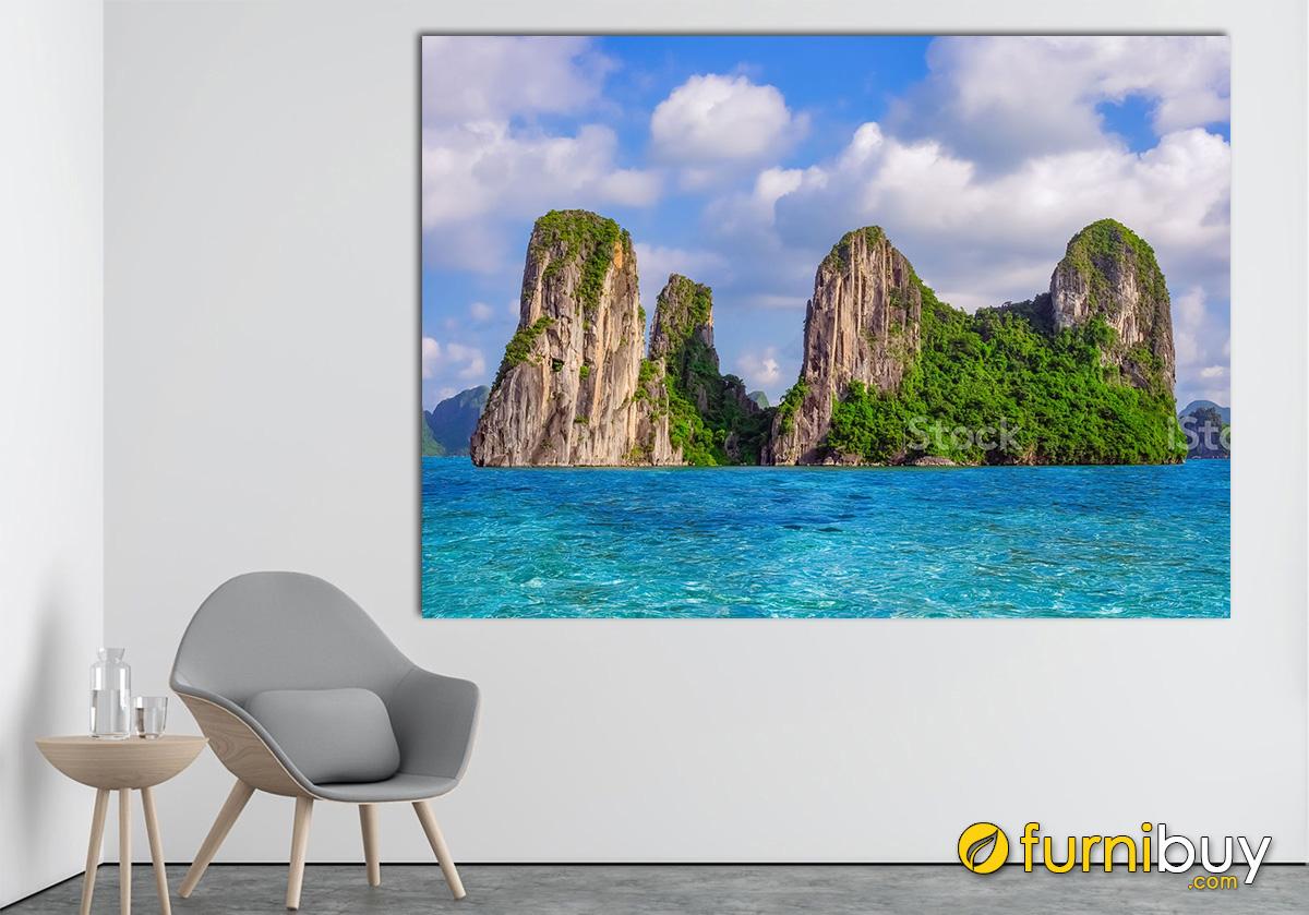 Hình ảnh Tranh phong cảnh Vịnh Hạ Long treo tường đẹp