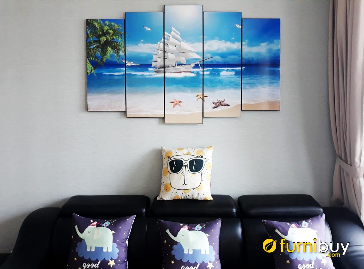 Hình ảnh Tranh phòng khách chủ đề phong cảnh biển đẹp