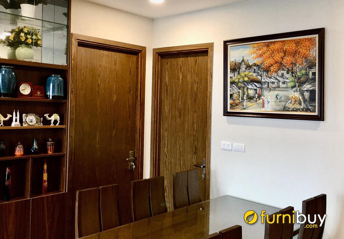 Hình ảnh Tranh sơn dầu phố cổ Hà Nội treo tường đẹp sang trọng