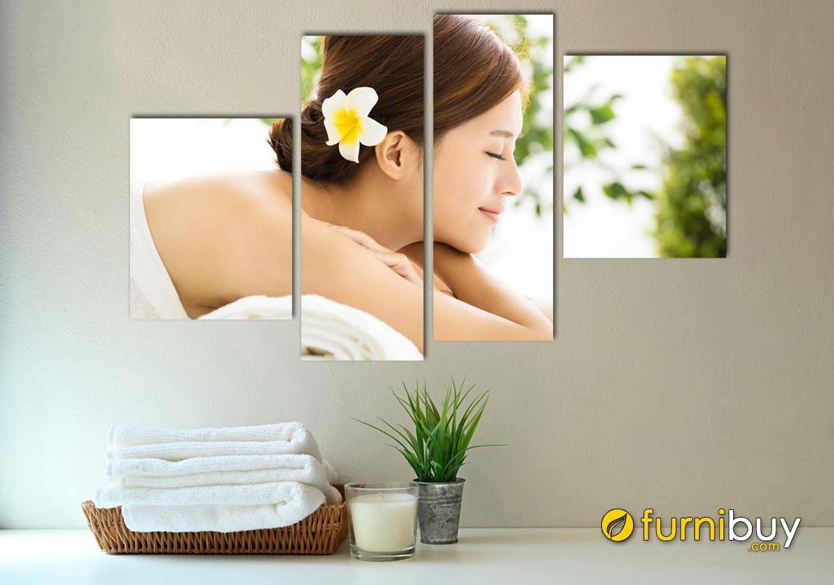 Hình ảnh Tranh spa cô gái đẹp treo tường