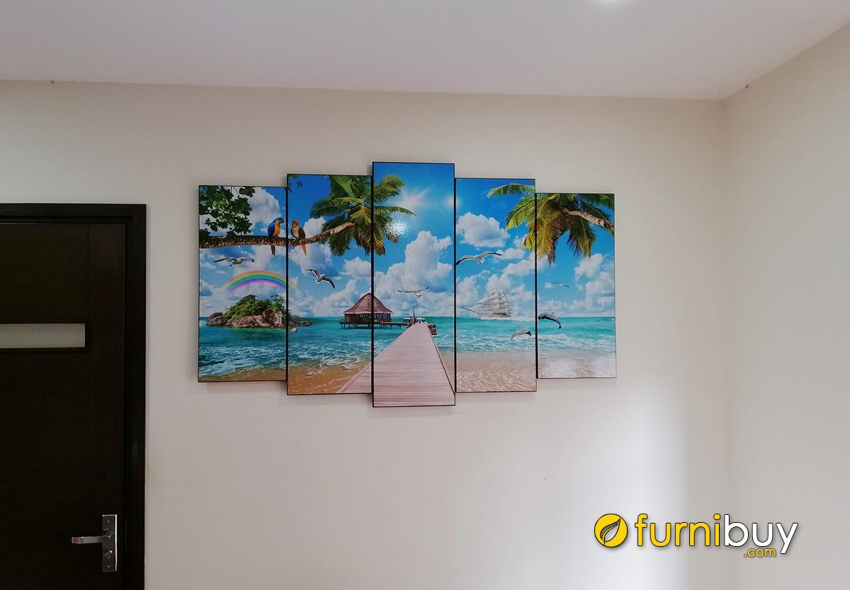 Hình ảnh Tranh treo tường chủ đề biển cả cho phòng khách