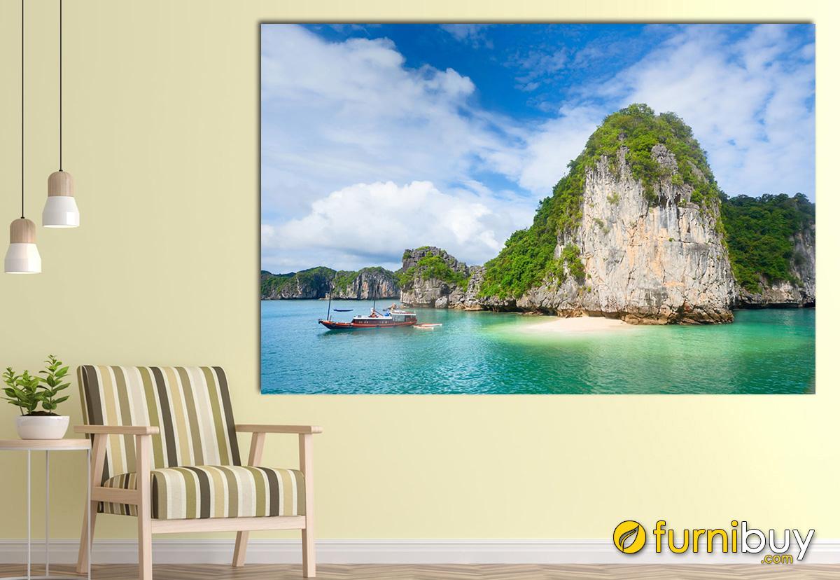 Hình ảnh Tranh trẻo tường chủ đề phong cảnh Vịnh Hạ Long