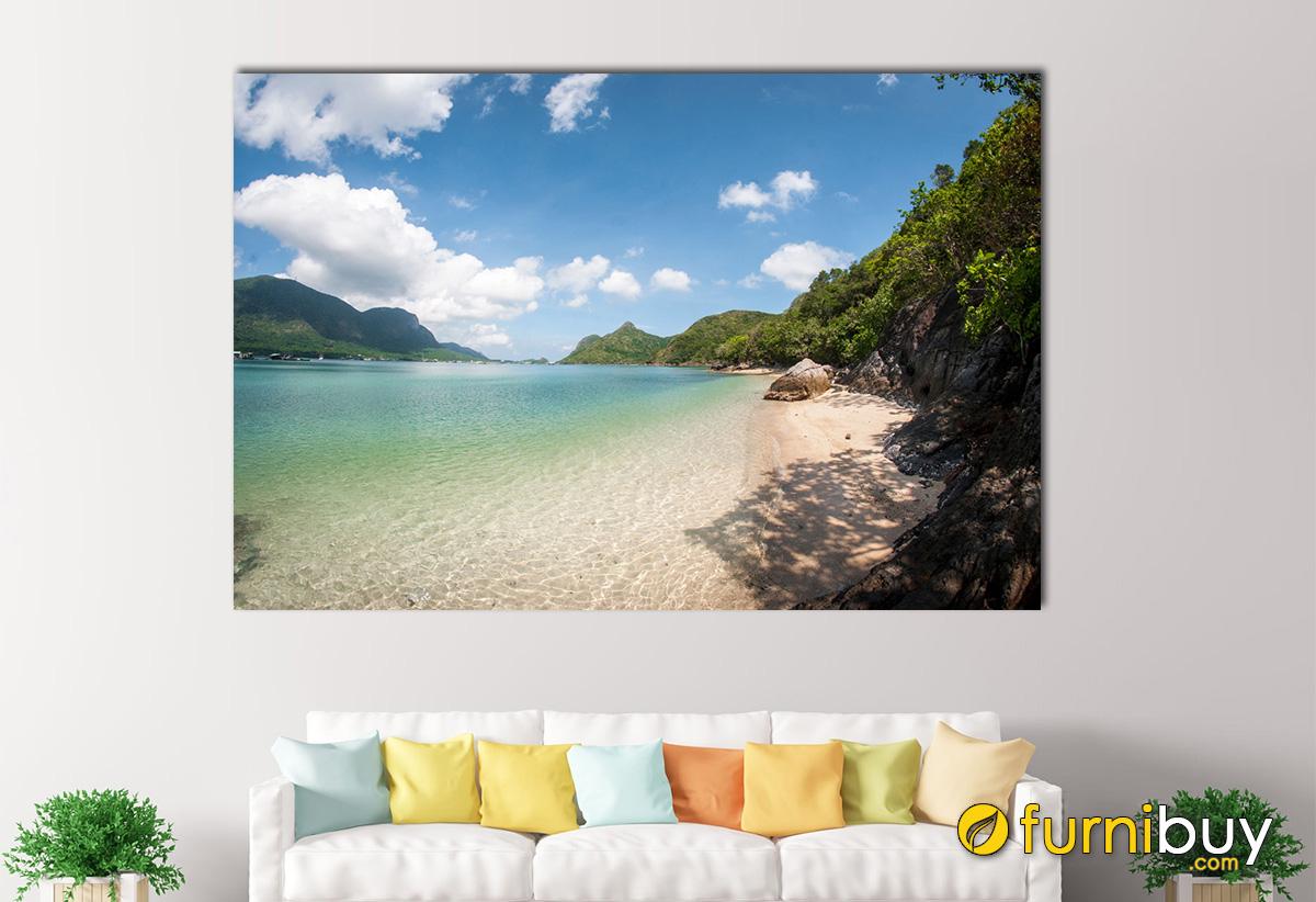 Hình ảnh Tranh treo tường phong cảnh bãi biển Côn Đảo đẹp