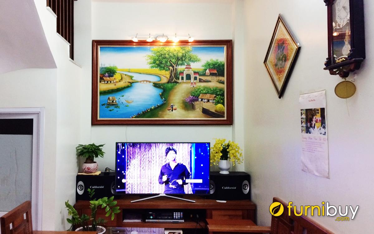 Hình ảnh Tranh treo tường phong cảnh làng quê cho phòng khách