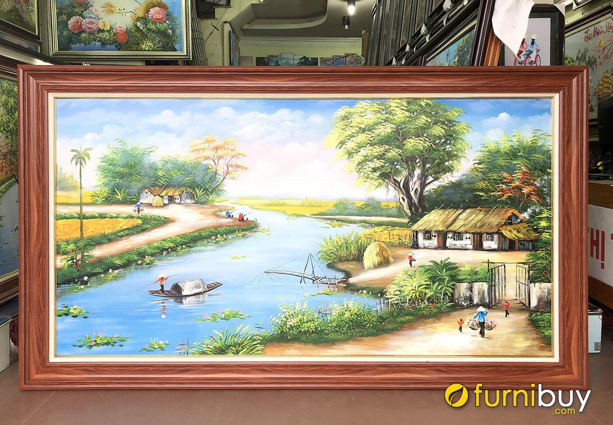 Hình ảnh Tranh treo tường phong cảnh làng quê Việt Nam