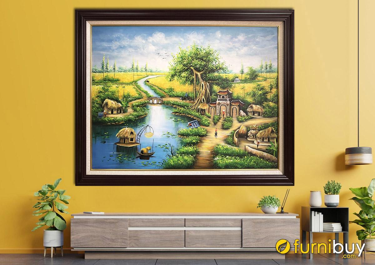 Hình ảnh Tranh treo tường phong cảnh làng quê đẹp