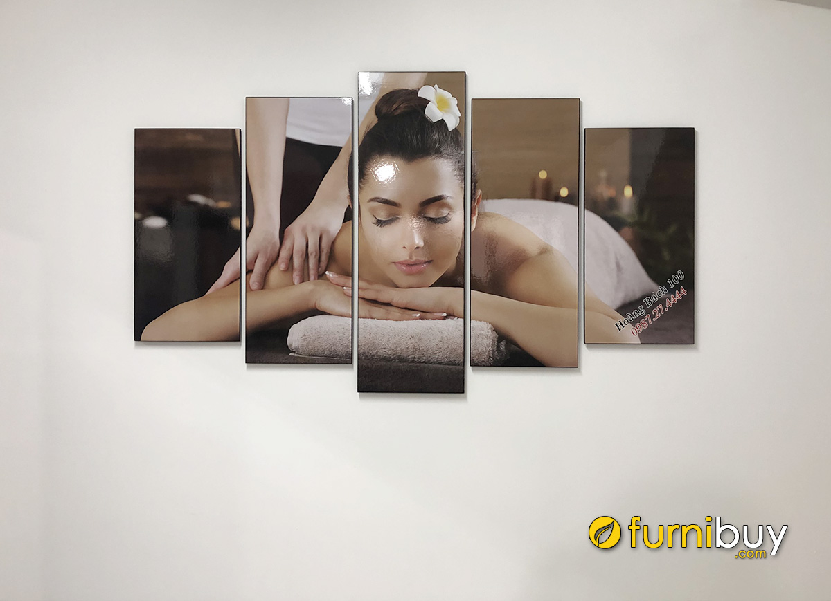 Hình ảnh Tranh treo tường spa hình ảnh cô gái