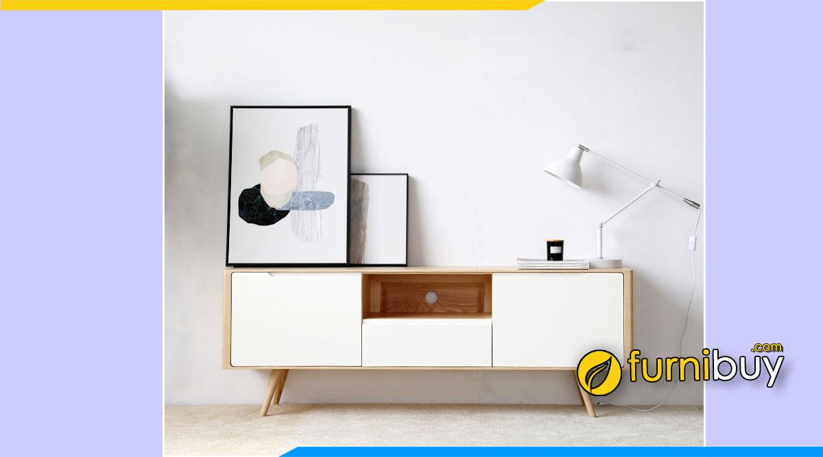 Hình ảnh Tủ để tivi phòng ngủ đơn giản gỗ MDF