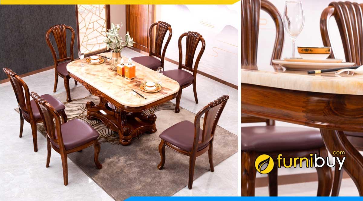 Ưu nhược điểm bộ bàn ghế ăn mặt đá cẩm thạch