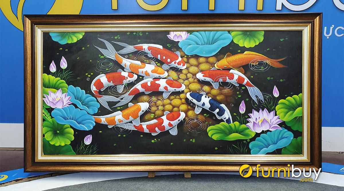 Hình ảnh Ý Nghĩa Tranh Cửu Ngư Quần Hội, Cá Chép Phong Thủy Là Gì?