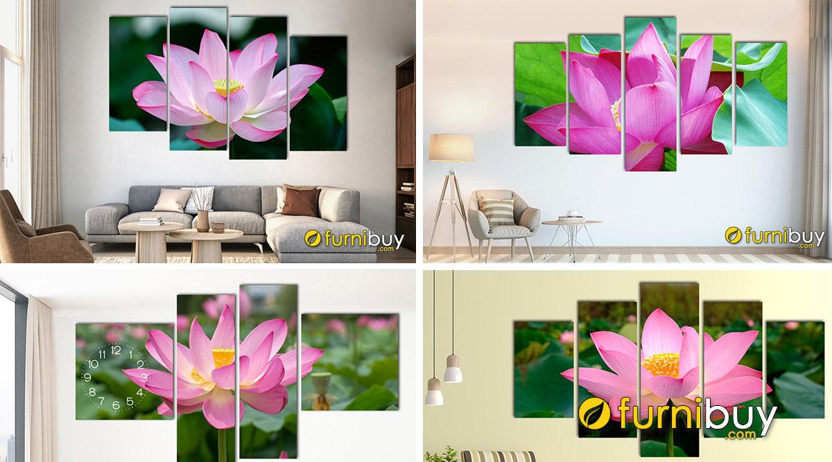 Hình ảnh Ý Nghĩa Tranh Hoa Sen Treo Tường: Màu Sắc + Phật Giáo + Phong Thủy
