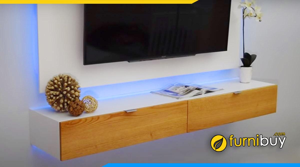 8 bước tự làm kệ tivi treo tường đơn giản tại nhà