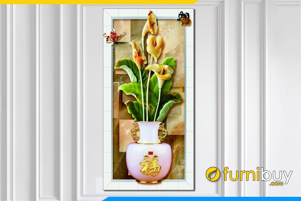 Tranh binh hoa 3D chu Phuc y nghia kho dung AmiA 1431
