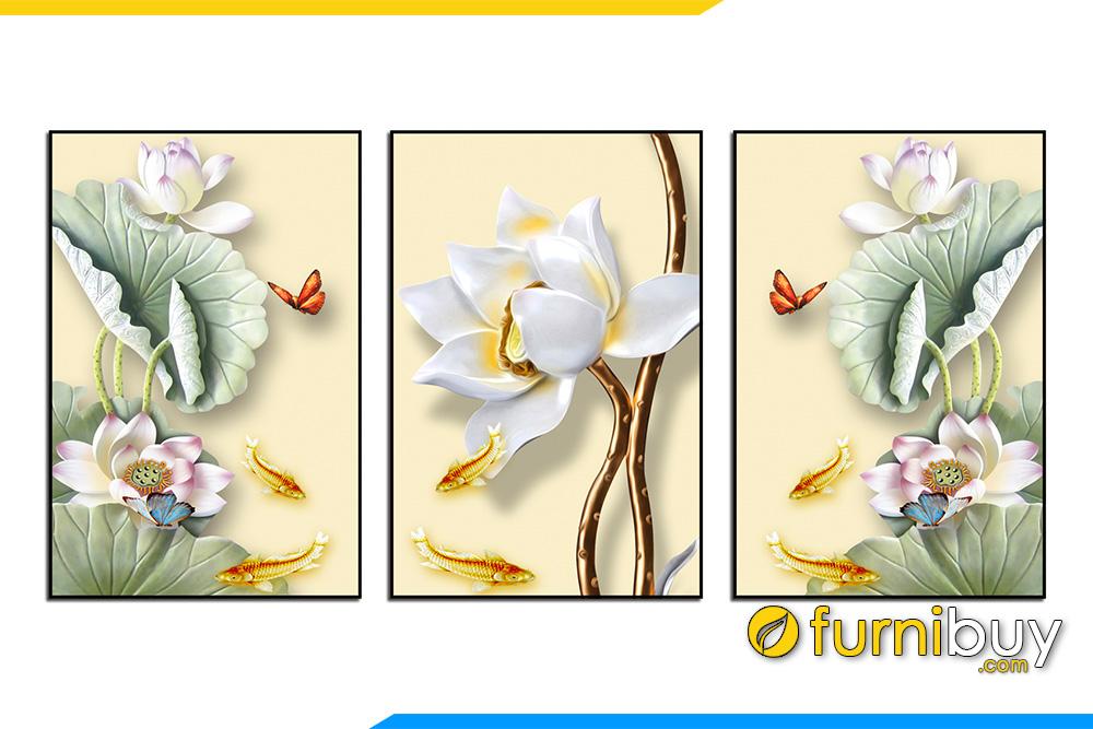 Tranh hoa 3D rat duoc yeu thich mang may man tai loc AmiA 1726