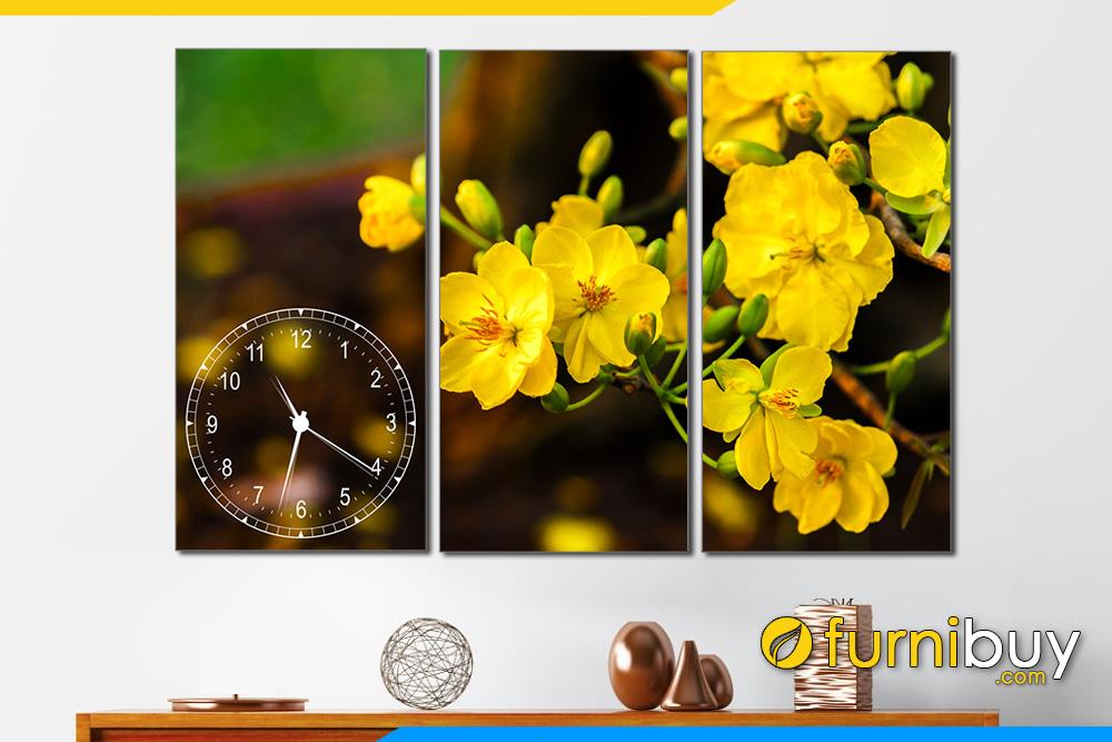 Tranh treo tuong mua xuan hoa mai no amia 275