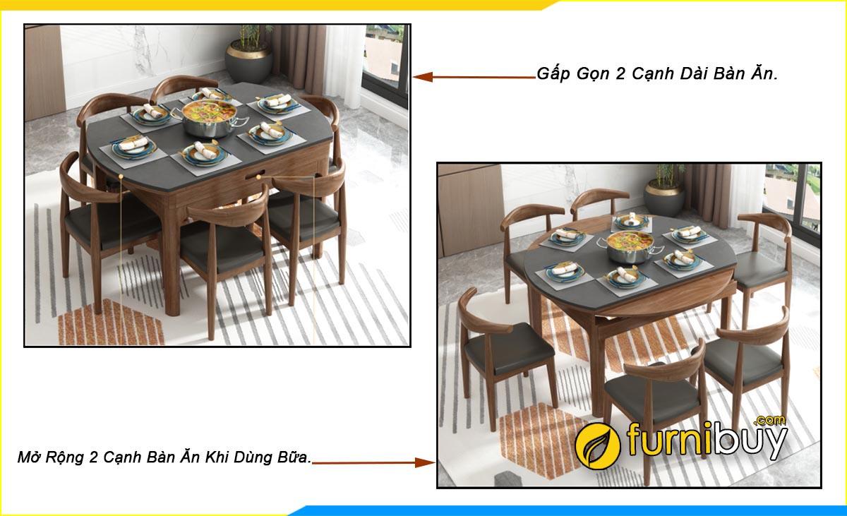 Hình ảnh Bộ bàn ăn 6 ghế hình tròn nhỏ