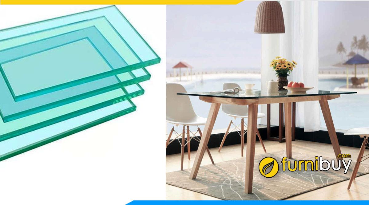 Mẫu bàn ăn 6 ghế mặt kính là gì, đặc điểm