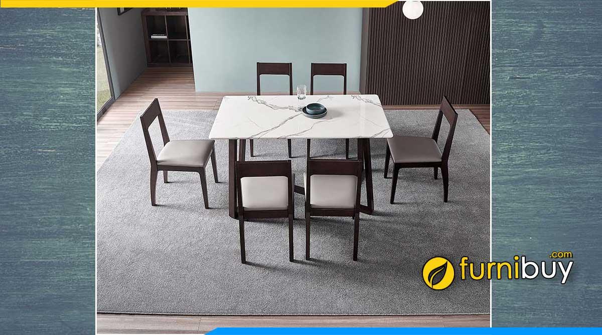 Hình ảnh bàn ăn khung gỗ đẹp Hà Nội