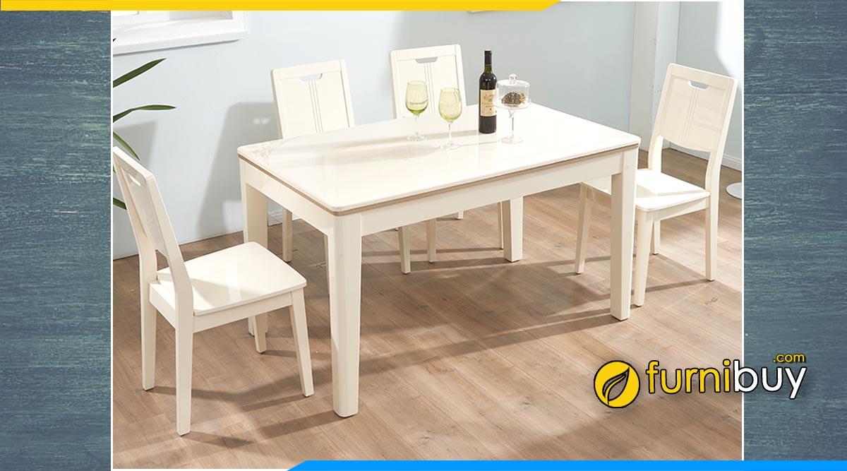 Hình ảnh bàn ghế ăn màu trắng đẹp giá rẻ