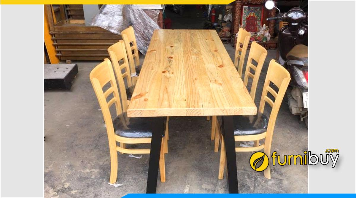 Bộ bàn ăn 6 ghế cũ thanh lý giá rẻ Hà Nội