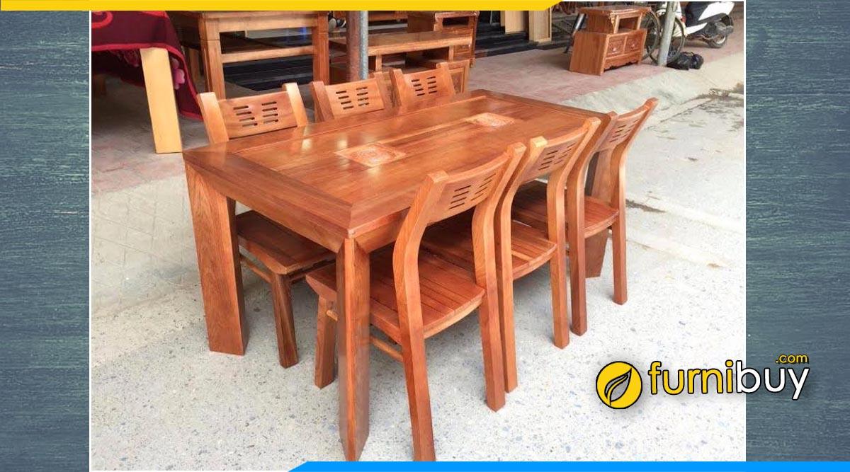 Hình ảnh bộ bàn ăn hình chữ nhật đẹp