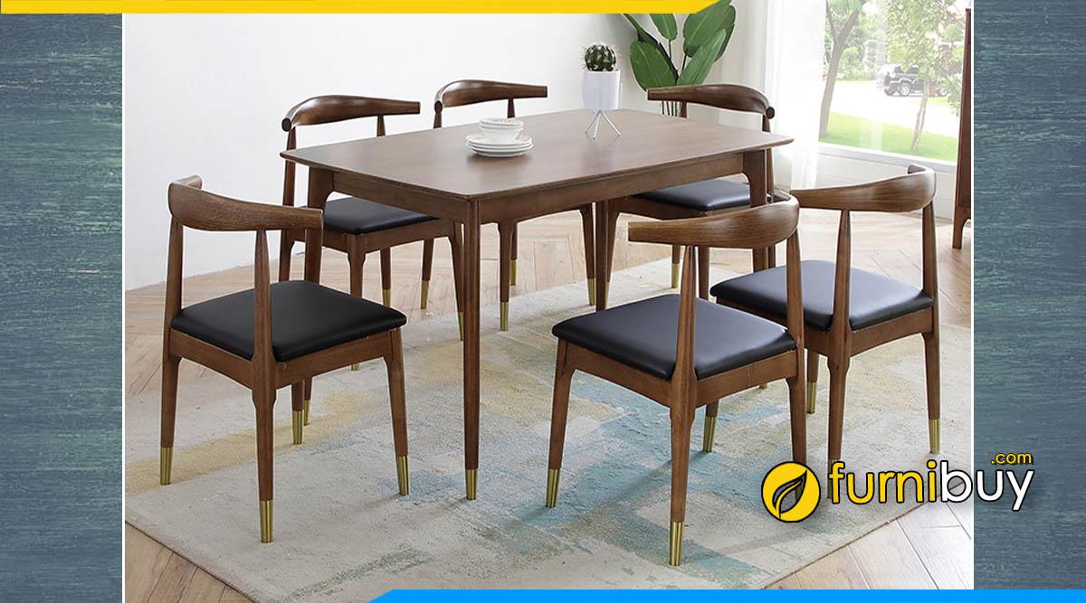 Hình ảnh bộ bàn ăn 6 ghế hiện đại phong cách Bắc Âu