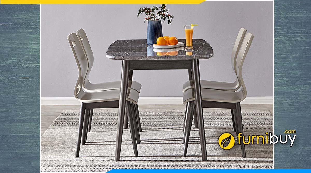 Hình ảnh bộ bàn ăn màu nâu đẹp