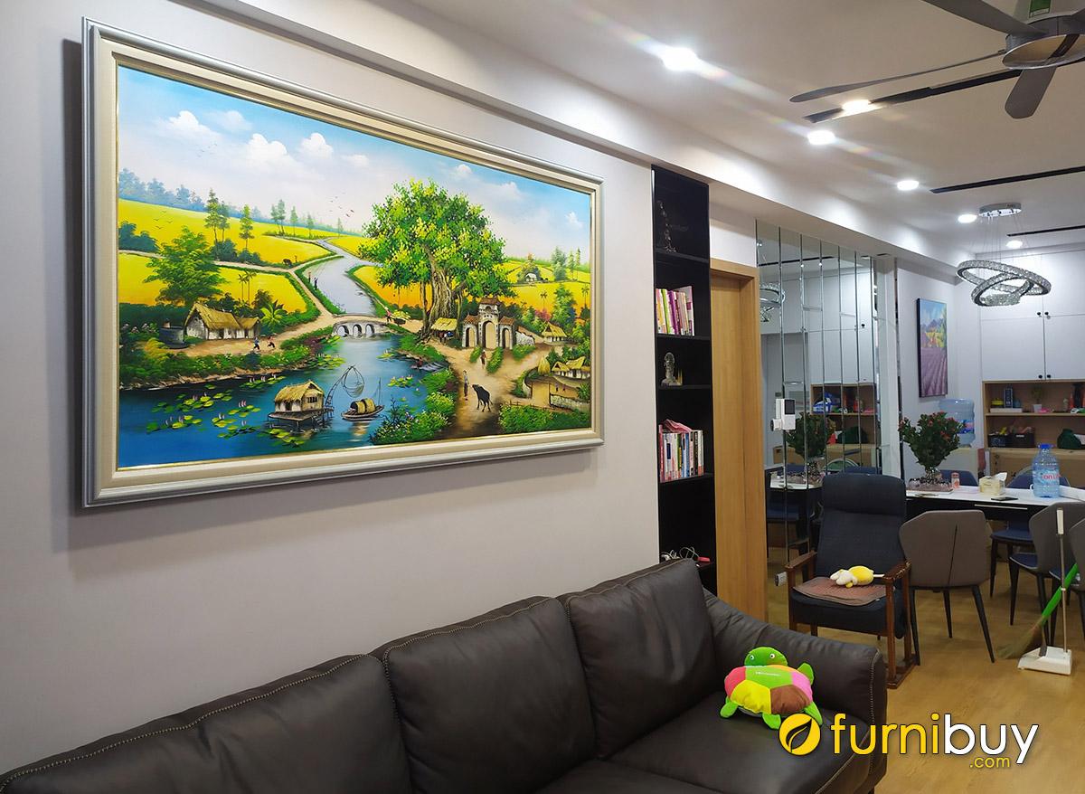 Hình ảnh Bức tranh mừng Tết treo tường đẹp cho phòng khách