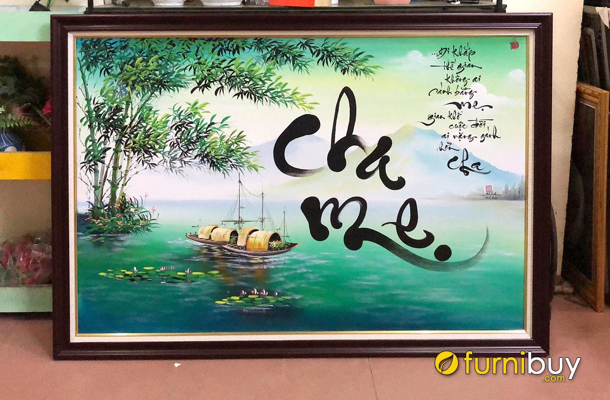 Hình ảnh Bức tranh quà tặng Tết cho bố mẹ đẹp ý nghĩa